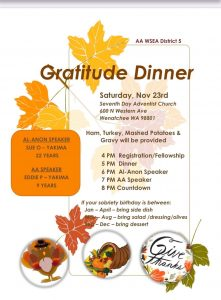 District 5 Gratitude Dinner @ Seventh Day Adventist Church | Wenatchee | Washington | United States